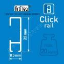 Artiteq eindkap click rail