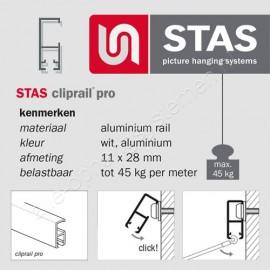 STAS cliprail pro & multirail eindkap