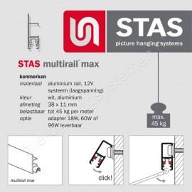 STAS multirail max eindkap