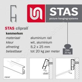 STAS cliprail hoekverbinder