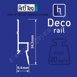 Artiteq deco ornament rail - 200cm wit primer