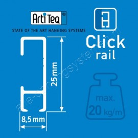 Artiteq twister op stang 2mm wit
