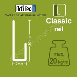 Artiteq J-Rail Classic - 200cm - 20kg - 2 colours