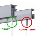 Newly R10 Rail (wel plafond aansluitend) - 200cm - 20kg - 2 kleuren