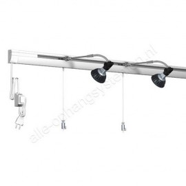 Dimbare Halogeen Artiteq Combi Rail Pro Light Set in wit van 200cm - 50kg