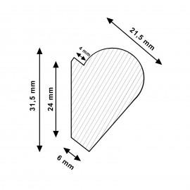 Artiteq Deco Rail wit primer - 200cm - 20kg