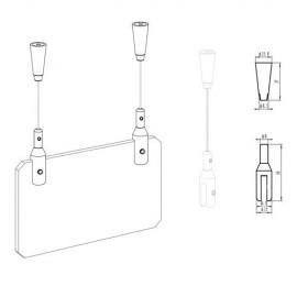 AOS Zelfklemmende Plafondnok incl draad - 10kg