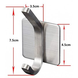 GeckoTeq Stainless Steel Selfadhesive Towel Hook