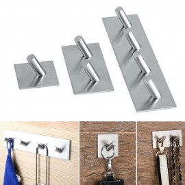 GeckoTeq Stainless Steel Selfadhesive Hook - 4 hanging points