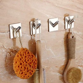 GeckoTeq Stainless Steel Selfadhesive Hook - 1 hanging point