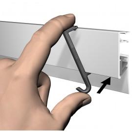 Artiteq Clip Hanger for Info Rails - 3kg