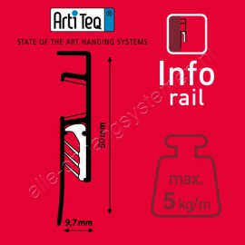 Artiteq Info Rail black (incl. end caps and mounting materials)