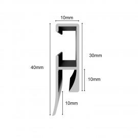 GeckoTeq Memo Rail (incl. endcaps en mountingmaterials) - 1kg