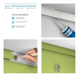 Artiteq  Click Rail 200cm - 20kg - 3 kleuren