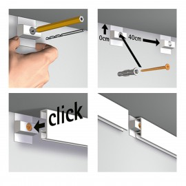 Click Rail White Budget Pack - 3 meters