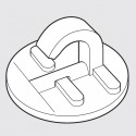 GeckoTeq Adhesive Ceiling Hook white - 20mm