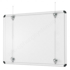 Artiteq whiteboard ophangset (excl draden) - max 30kg