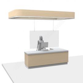 Corona Covid Cough Screens Hanging set 6