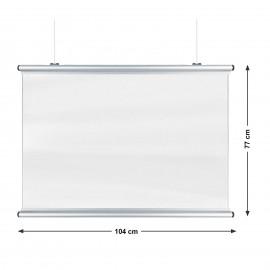 Corona Covid Splash and Prevention Screens 104 x 77cm Silver