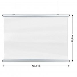 Corona Covid Cough and Sneeze Screens 122 x 89cm Silver