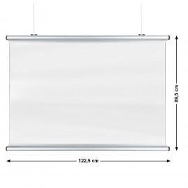 Corona Covid Cough and Sneeze Screens 122 x 89cm Silver