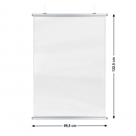Corona Covid Cough and Sneeze Screens 89 x 122cm Silver