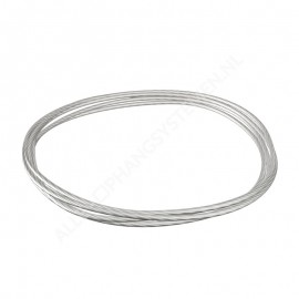 Steel Picture Wire 1,5mm in white or black - per 10 meter