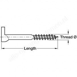 Schroefduim met kruisgleuf - 40x5.25mm