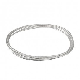 GeckoTeq Steel Picture Wire 1,5mm in White - per 2 meter
