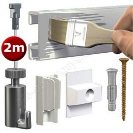 Artiteq Click Rail white Primer Set 200cm - 20kg