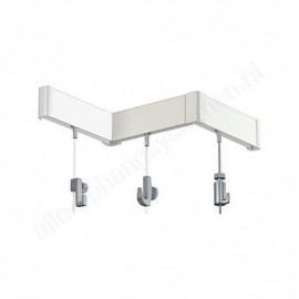 Artiteq Click Rail Set in white 200cm - 20kg