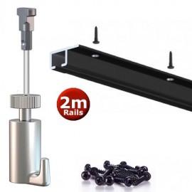 Artiteq Top Rail black Set 200cm - 20kg (set)