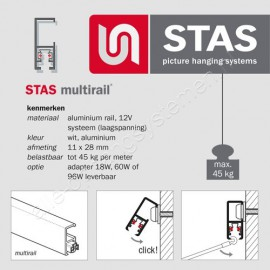 STAS Multirail Luminaire White incl. Smart-Led bulb
