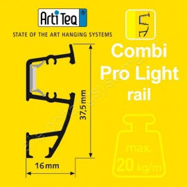 Artiteq combi rail pro light wit 200cm incl ophangmateriaal