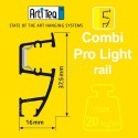 Artiteq combi rail pro light wit 200cm incl ophangmateriaal